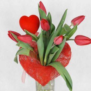 bukiet walentynkowe tulipany
