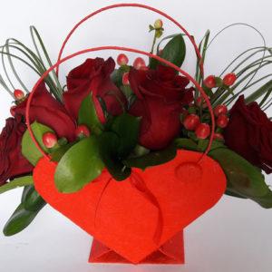 flowerbox serce