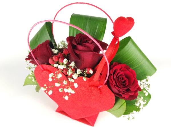 flowerbox serce z różami